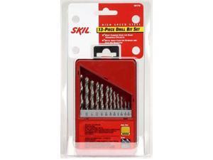 SKIL, 45173, 13 Piece, High Speed Steel, 1/4-Inch to 5/64-Inch Twist Drill Bit Assortment Set With Metal Case