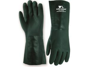 Wells Lamont, 167L, Heavyweight PVC Fully Coated Gloves, Cotton Jersey Lining, 14-inch Gauntlet Cuff, Large, Green