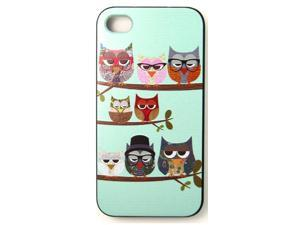 Owls on the Tree Phone Case Cover For iPhone 4 iPhone 4S
