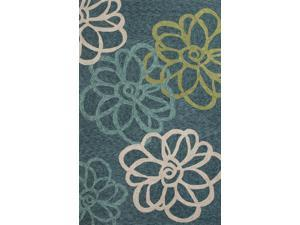 "Polyester Blue Green Floral Pattern Durable Rug (5' x 7' 6"")"