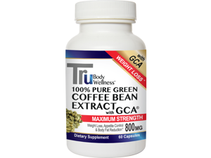 Trubody Wellness Tru Green Coffee with GCA, 800 mg, 60 Count