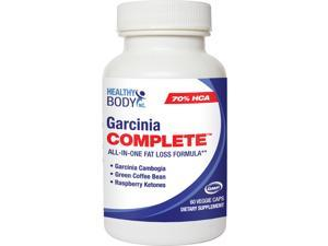 Healthy Body Garcinia Complete with 70% HCA, Green Coffee and Raspberry Ketone, 60 Veggie Caps