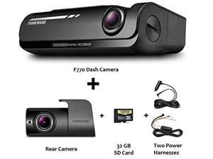 THINKWARE F770 2-Channel Dash Cam | Front and Rear | 1080P HD Dash Cam w/ 32GB SD Card