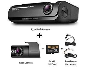 THINKWARE F770 2-Channel Dash Cam | Front and Rear | 1080P HD Dash Cam w/ 64GB SD Card