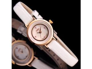 Julius Brand Women's Watches Quartz Rhinestone Top grade PU leather Watchband Fashion girl's Wristwatch JA-675