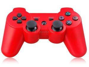 Six-Axis DualShock Wireless Controller for PlayStation 3 (Red) - OEM