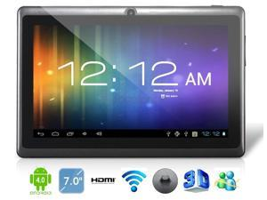 "7"" Android 4.0.4 A13 1.2GHz Tablet PC with External 3G, 1080P Playback, Capacitive Touch (4G) (Black) - OEM"