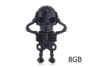 Skeleton Shape 8GB USB Flash Drive (Black)