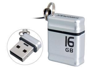 Kingmax Mini 16GB USB Flash Drive (Silver)