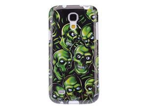 Green Skull Pattern TPU Soft Case for Samsung Galaxy S4 Mini I9190