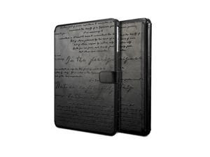 Zenus Lettering Diary Case for Samsung Galaxy Note 10.1 2014 Edition - Black