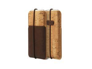 Zenus E-Cork Pouch Italian PU Leahter Cover Case for Apple iPhone 5 / 5S / 5C - DarkBrown