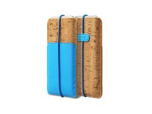 Zenus E-Cork Pouch Italian PU Leahter Cover Case for Apple iPhone 5 / 5S / 5C - NeonBlue