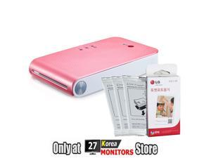 LG PoPo Pocket Photo 2 PD239 Mini Portable Mobile Photo Printer for Android(2.2) iOS(5.1) Pink Color + 30 Sheets of Zink ...