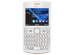 Nokia Asha 205.1EU ORANGE/White Unlocked Dual-band Cell Phone -US Waranty- 2G - GSM 900/1800