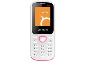 Unnecto U-140-2NA Primo White/Pink Dual Unlocked QuadBand GSM Cell Phone- US Warranty- 2G: GSM 850 / 900 / 1800 / 1900