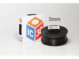 3mm ABS 3D Printer Filament 2lb Black - OEM