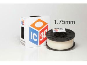 IC3D 1.75mm ABS 3D Printer Filament 2lb Natural - MADE IN USA - OEM