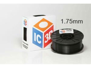 IC3D 1.75mm ABS 3D Printer Filament 2lb Black - MADE IN USA - OEM