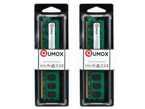 QUMOX 2 x 2GB DDR2 PC2-5300 DDR PC DIMM RAM DESKTOP 667MHz HK163x2