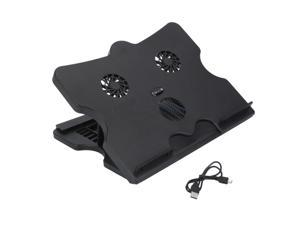 New 15 Notebook Laptop Cooling Cooler Pad Stand with 3 Fan 4 Port USB Hub Black