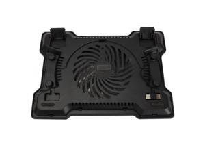 USB 2.0 One Fan Cooling Cooler Pad Stand for 17 inch Notebook Laptop PC Black