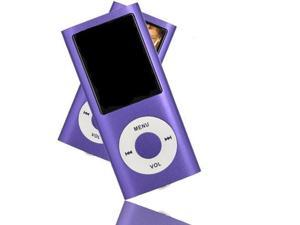 8GB Slim 1.8 LCD Mp3 Mp4 Music Video FM Radio Media Player PURPLE