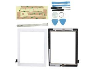 white Touch Screen Digitizer + Bezel Frame Assembly + Tools + Adhesive Tape