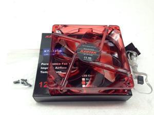 "1 PC New 120mm 12cm 6.5"" Red 4 LED LEDs Case Power Supply Fan 3/4 Pin DC12V fans"