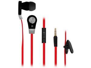 New Frisby In-Ear Headset Earphone Tangle-Free w/ Mic for Sype Tablet Iphone Android