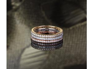 .95ct Diamond 14k Multi-Tone Gold Pave Wedding Engagement Matching Band Ring Set