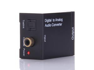 Digital Optical Coaxial Toslink to Analog Audio RCA L/R Audio Converter Adapter