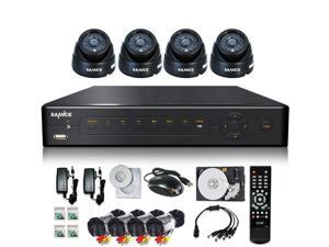 (add 1TB HDD)SANNCE P2P HDMI 8Channels H.264 QR Code Scan DVR +4*480TVL Dome Day/Night Vision Cameras Smartphone Viewing ...