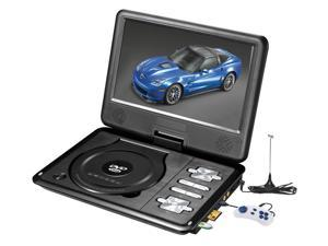 """9"""" portable DVD player with game, FM, TV, USB & MC card port"""