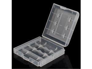 10 PCS AA/AAA Battery Plastic Transparent Storage Box Case Holder