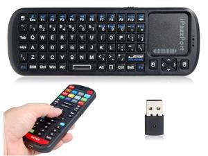 2.4Ghz RF Mini Wireless Keyboards iPazzPort KP-810-19R Universal Remote Control and Keyboard