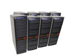 80 Target SATA Daisy Chain 24X Burner DVD CD Duplicator w/500GB HD and USB Connection