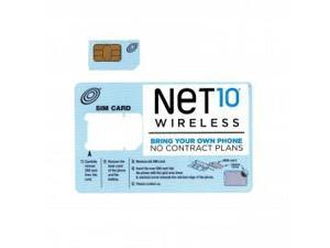 Regular Net10 Wireless Sim Card For Unlocked AT&T & T Mobile Android Phone