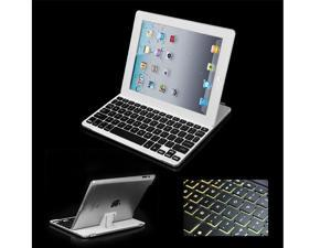 Portable Ultrathin Wireless Colorful backlight Bluetooth Keyboard Case For iPad2/3/4