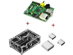 New Raspberry Pi 2.0 Model B 512MB Version Element 14 Linux System Board + 3 PCS Raspberry Pi Aluminum Heatsink Set - Protect ...