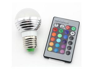 SUPERNIGHT E27 3W RGB LED Light Bulb Lamp Lighting Multi Color Changing Spotlight Dimmable Light Bulb Lamp Lighting Home ...