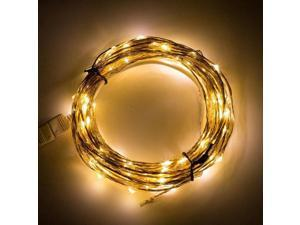 SUPERNIGHT 10M LED Light String 207LEDs33ft Silver Cooper Wire Starry Fairy Lamp DC 12V Waterproof for Home Festival garden Tree Indoor Outdoor Warm White