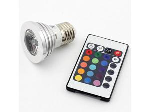 SUPERNIGHT E27 3W RGB Multicolor LED 16 Color Changing Four Changing Modes Lamp Light Bulb + 24 Key Wireless IR Remote Control
