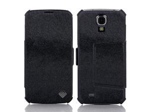 PU Leather Flip Mobile Phone Case Cover Stand Sumsung S4 Galaxy I9500 Black