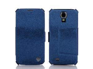 PU Leather Flip Mobile Phone Case Cover Stand Sumsung S4 Galaxy I9500 Blue