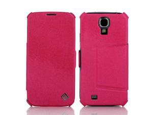 PU Leather Flip Mobile Phone Case Cover Stand Sumsung S4 Galaxy I9500 Rose