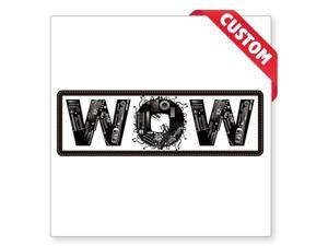 ENGLISH WORD WOW Car Sticker Practical Vinyl Decal Bumper Window Van Lorry