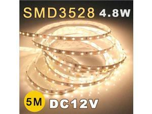 5M 3528 SMD 60 Flexible Fairy LED Strip Lighting Tape Roll 12V Warm White