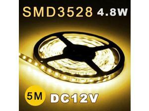 5M 3528 SMD 60 Flexible Fairy LED Strip Lighting Tape Roll 12V yellow