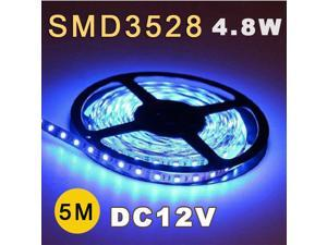 5M 3528 SMD 60 Flexible Fairy LED Strip Lighting Tape Roll 12V Blue